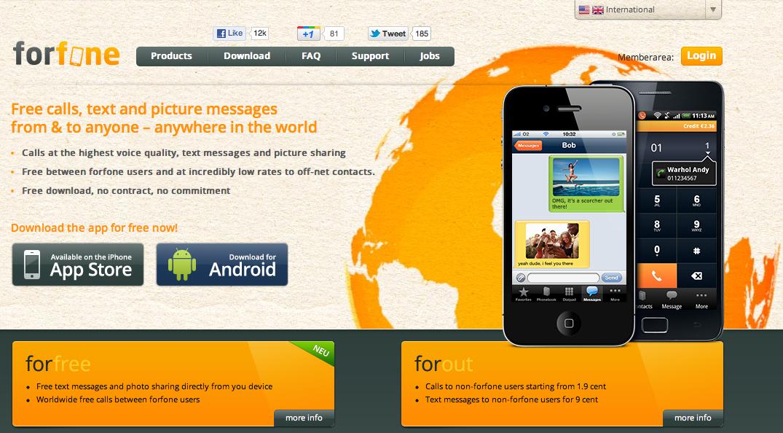 Forfone, l'applicazione con cui chiamare gratis i numeri fissi ogni mese