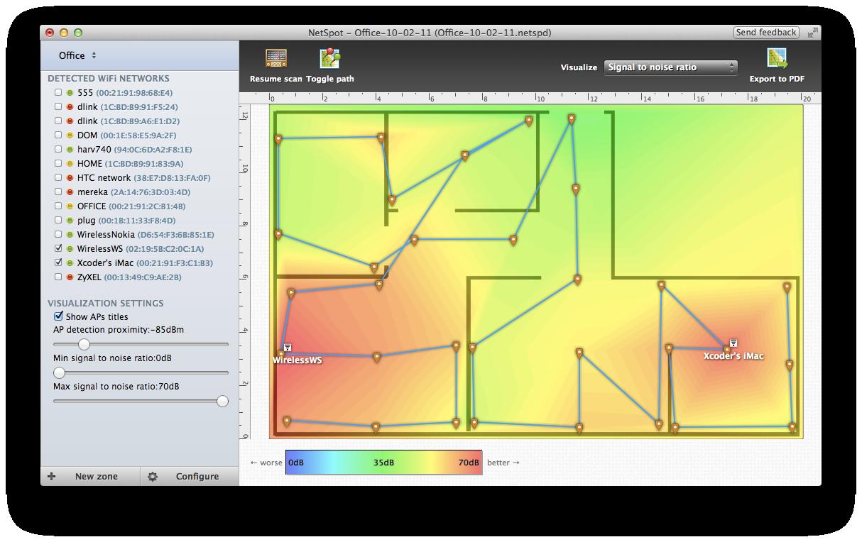 NetSpot: effettuare una mappa delle reti Wifi nelle vicinanze