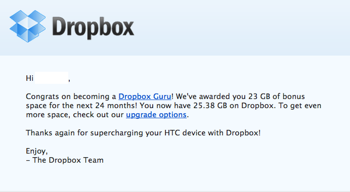 Aumentare lo spazio di Dropbox con 23 GB gratis per due anni