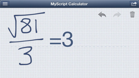 MyScript: Finalmente una calcolatrice scientifica per iPhone e iPad
