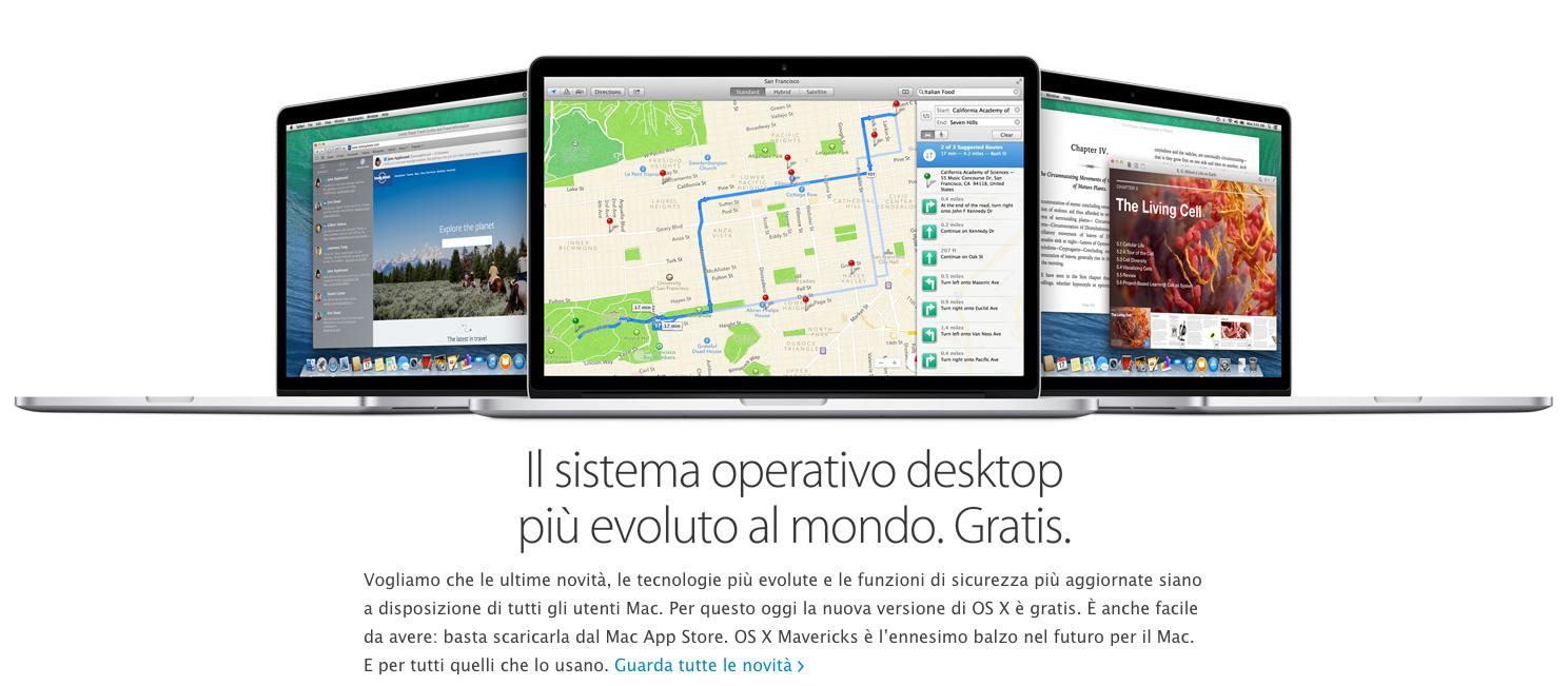 OS X Mavericks: il nuovo sistema operativo Apple è pronto per essere installato