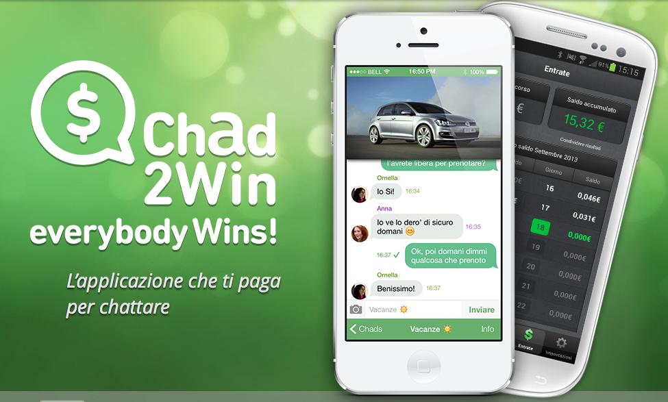 Chad2Win: l'applicazione che permette di chattare gratuitamente e guadagnare soldi