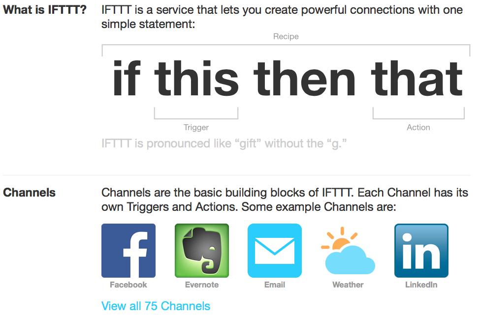 IFTTT un servizio per automatizzare tantissime operazioni