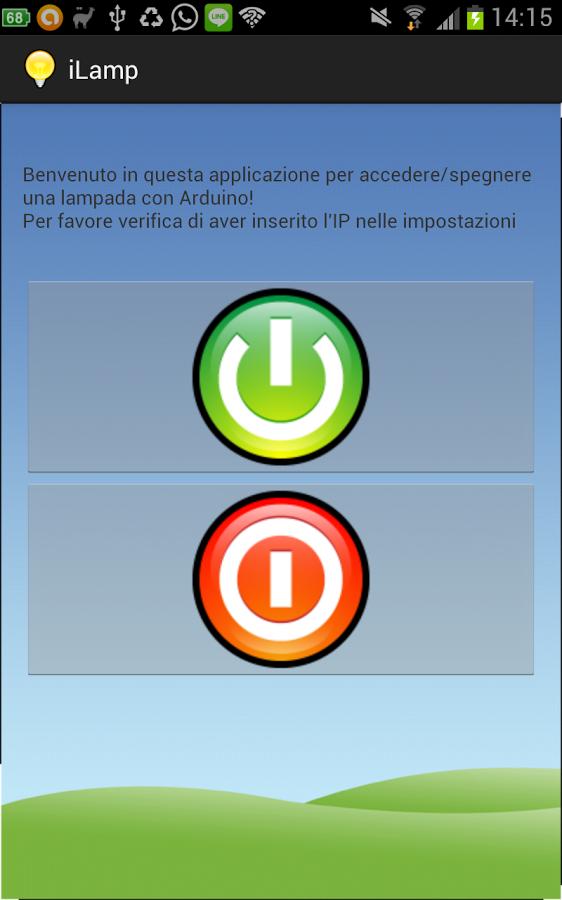 iLamp l'applicazione che ti permette di comandare una lampada da Android