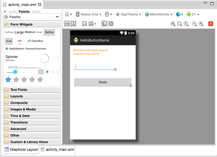 Lezione 3 su Android: I button in Android