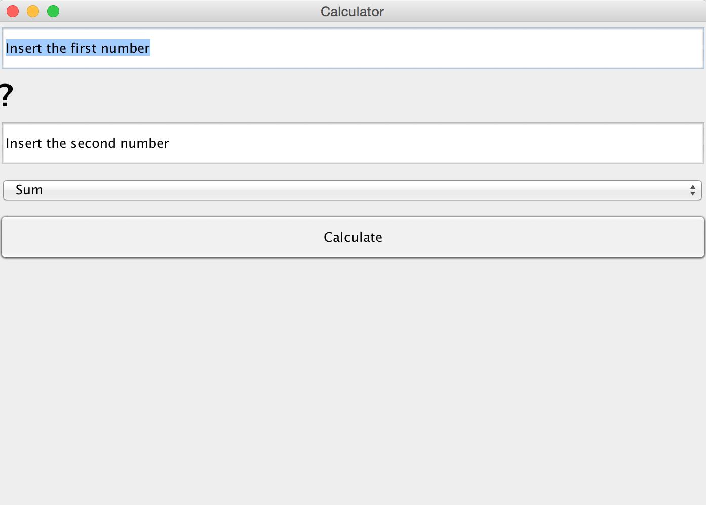 Calcolatrice in Java: esempi di DP