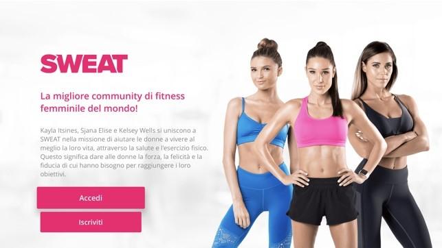 App per lo sport: SWEAT, Kayla Itsines Fitness