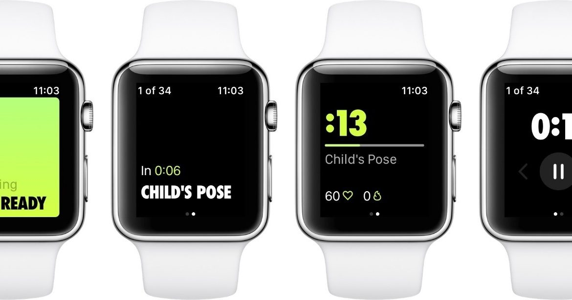 Nike Training Club interfaccia su Apple Watch